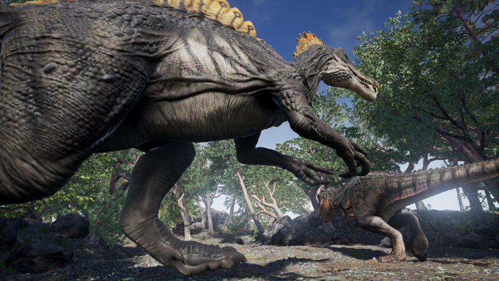 Virtual Reality Museum Simulator Dinosaur Spinosaurus T Rex tyrannosaurus