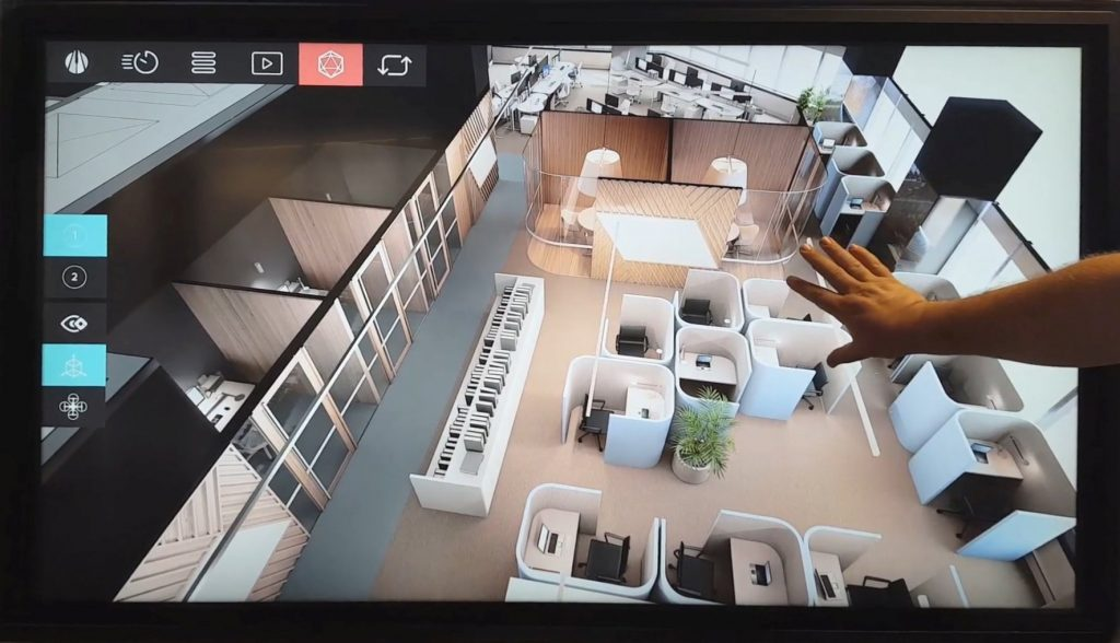 Virtual Reality touchscreen multitouch UE4 architectural interior design virtual prototyping